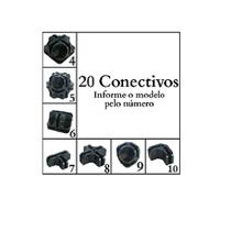 Conectivo Conector Para Balcão De Vidro E Aramado 20 Un - Ademaq