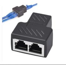 Conector Adaptador duplicador Rj45 para cabo de rede fêmea - Xt