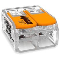 Conector Automático Bipolar 221-612 Transparente 3 Peças Wago -