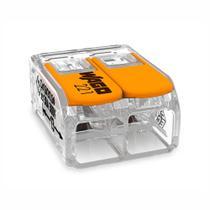 Conector De Emenda 2 Polos 0,08A 4,0mm 32a 221-412 Wago -