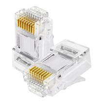 Conector de Rede Plug RJ45 8x8 CAT6 062-0046 Chip SCE Pacote com 100 Peças -