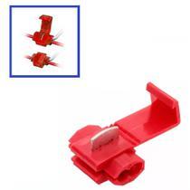 Conector Derivativo Scoth Lock Para Conexão de Fios de 0,5 a 1,5mm Vermelho - Novum - Pcte. c/10 -