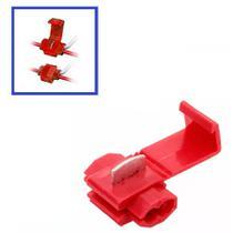 Conector Derivativo Scoth Lock Para Conexão de Fios de 0,5 a 1,5mm Vermelho - Novum