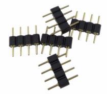 Conector Emenda Macho 4 Pinos Led RGB (10 unidades) - Coxo technology co.