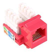 Conector Fêmea Rj45 Keystone Cat5e Vermelho Com 50 Peças Nfe - Enter Light