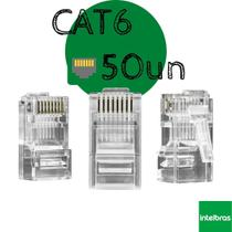 Conector RJ45 CAT6 50un Conex 1000 Intelbras -