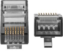 Conector rj45 cat6 conex 3000 (20 peças) - Intelbras