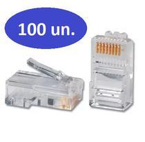 Conector rj45 pack 100pçs 01230 - Xway