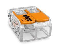 Conector Wago Borne Emenda Para 2 Fios Modelo 221 412 - 50un -