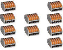 Conector Wago Borne Emenda Para 5 Fios - 222-415 10 Peças - Wago Eletroeletronicos Ltda