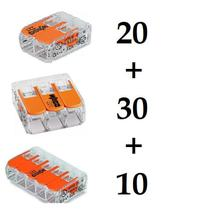 Conector Wago Compacto Emenda Modelo 221 - Kit 203010 -