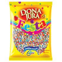 Confeito Crocante Colorido Dona Jura 200g - Cacau Foods -