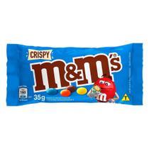 Confeitos M&M Crispy Chocolate ao Leite 35g -