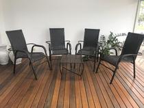 Conj Cadeira Area Externa Chuva Sol Resistente - Trama Original