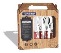 Conj Talheres Inox 24pc Polywood Tramontina 21199/705 - Tramontina cutelaria