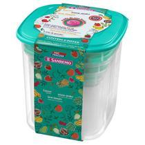 Conjunto 05 Potes Vac Freezer Referência 490/2C Sanremo -