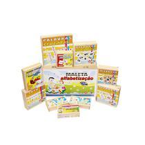 Conjunto 10 Jogos De Alfabetização Carlu 1108 Com Maleta Mdf -