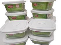 Conjunto 10 Pote De Vidro Marinex Freezer E Microondas -