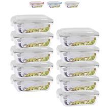 Conjunto 10 Potes Vidro Hermético mantimentos marmita 370ml - Quality House / Univendas