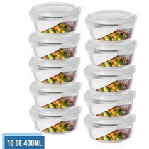 Conjunto 10 Potes Vidro Hermético Mantimentos Marmita 400ml - Quality House / Univendas