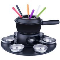 Conjunto 17 Peças Aparelho Para Fazer Fondue Gourmet Brinox -