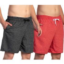 Conjunto 2 Bermudas Moletom Masculina Efect Shorts Casual Confortável Tecido Fofo -