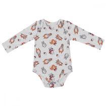 Conjunto 2 Bodys Bebês Urso Com Cachecol 3 a 18 Meses - Pernambucanas