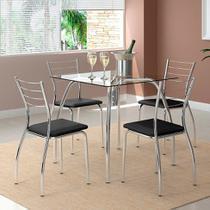 Conjunto 2 Cadeiras 1700 Preta - Carraro móveis