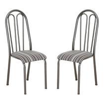 Conjunto 2 Cadeiras Barbarie Preto Listrado - Artefamol