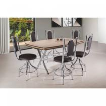 Conjunto 2 Cadeiras Ca-955 Novabras CROMADO/TABACO NEWS -