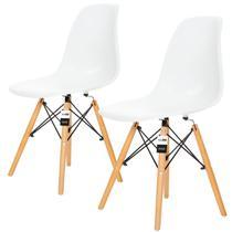 Conjunto 2 Cadeiras Charles Eames Branca - KzaBela - Kza Bela