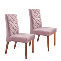 Conjunto 2 Cadeiras Estofadas Alta Qualidade Alice R Decor -