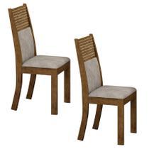 Conjunto 2 Cadeiras Estofadas Havaí Ypê/Pena Palha - 7519.45.49 Leifer Móveis - Leifer moveis