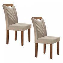 Conjunto 2 Cadeiras Estofadas Texas Yescasa Chocolate/Jacar -