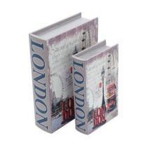 Conjunto 2 caixa livro Londres - Prestige