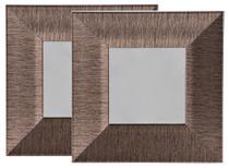 Conjunto 2 Espelhos 23x23 cm Dourado - Just Home Collection