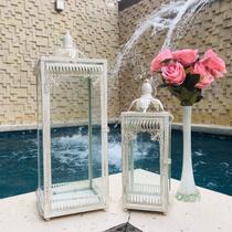 Conjunto 2 Lanternas Marroquinas Brancas 54x18cm - Ef