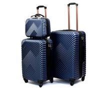 Conjunto 2 Malas Rodinhas 360 Viagem ABS com cadeado TSA e 1 Necessaire Grande 225 - W & Y