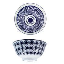Conjunto 2 Tigelas Bowl Cumbuca Porcelana 600 ml Luxo Importada Napoles CH1351-6 / 02 - Santa cecilia