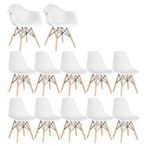 Conjunto 2 x cadeiras Eames DAW com braços + 10 cadeiras Eiffel DSW - Loft7