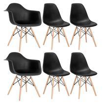 Conjunto 2 x cadeiras Eames DAW com braços + 4 cadeiras Eiffel DSW - Loft7