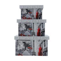 Conjunto 3 caixas decorativas porta trecos Paris - Prestige
