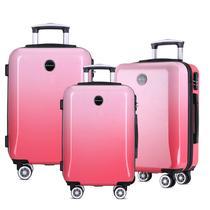 Conjunto 3 Malas de Viagem Kit PMG Rígidas em ABS C/ 4 Rodas 360º - BGV183 Vernazza - Santino