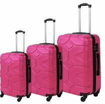 Conjunto 3 Malas de Viagem Kit PMG Rígidas em ABS C/ 4 Rodas 360º - WLV187 Teresina - Santino
