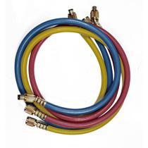 Conjunto 3 mangueiras manif gas r12 r22 r134 r404 r407 r502 90cm 800 psi - Suryha