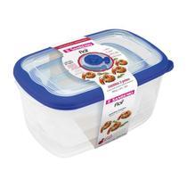 Conjunto 3 Potes Herméticos Porta Alimentos Geladeira Cozinha Flor - 723 Sanremo -