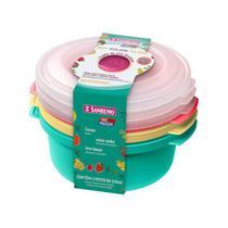 Conjunto 3 Potes Plásticos Sr545/3c Sanremo -