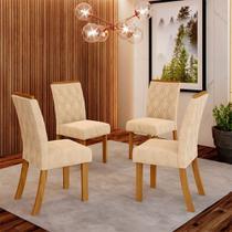 Conjunto 4 Cadeiras Estofadas Lupita Casa 812 -