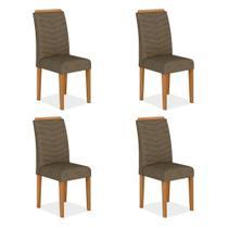 Conjunto 4 Cadeiras Lisboa Cinamomo/ Cappuccino - TARGO MÓVEIS