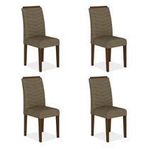 Conjunto 4 Cadeiras Lisboa Imbuia/ Cappuccino - MOVEIS ARAPONGAS